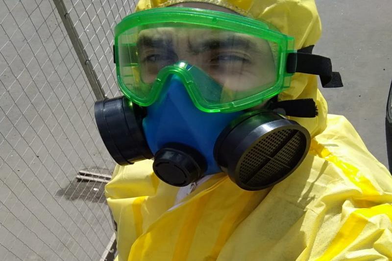В Брянске коронавирус уничтожают на специальной установке