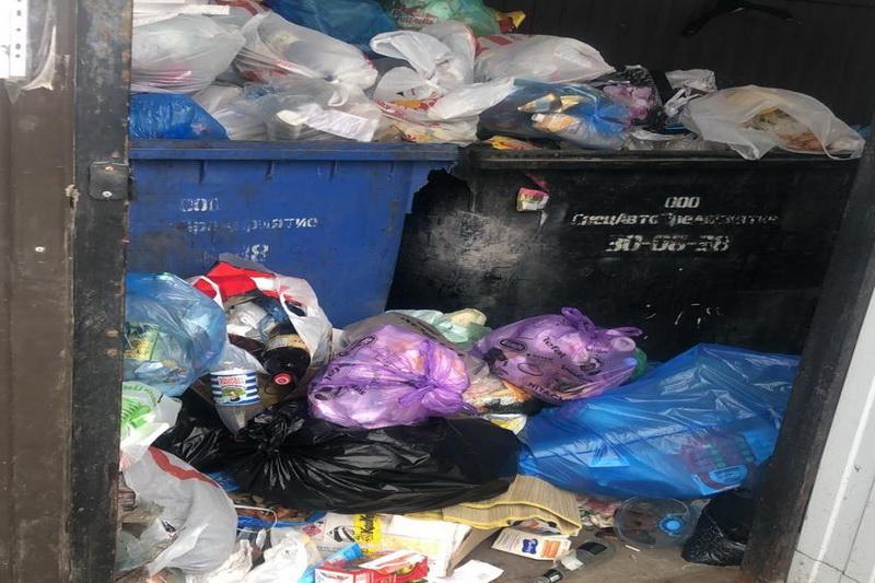 Объем мусора на контейнерных площадках увеличился почти на треть
